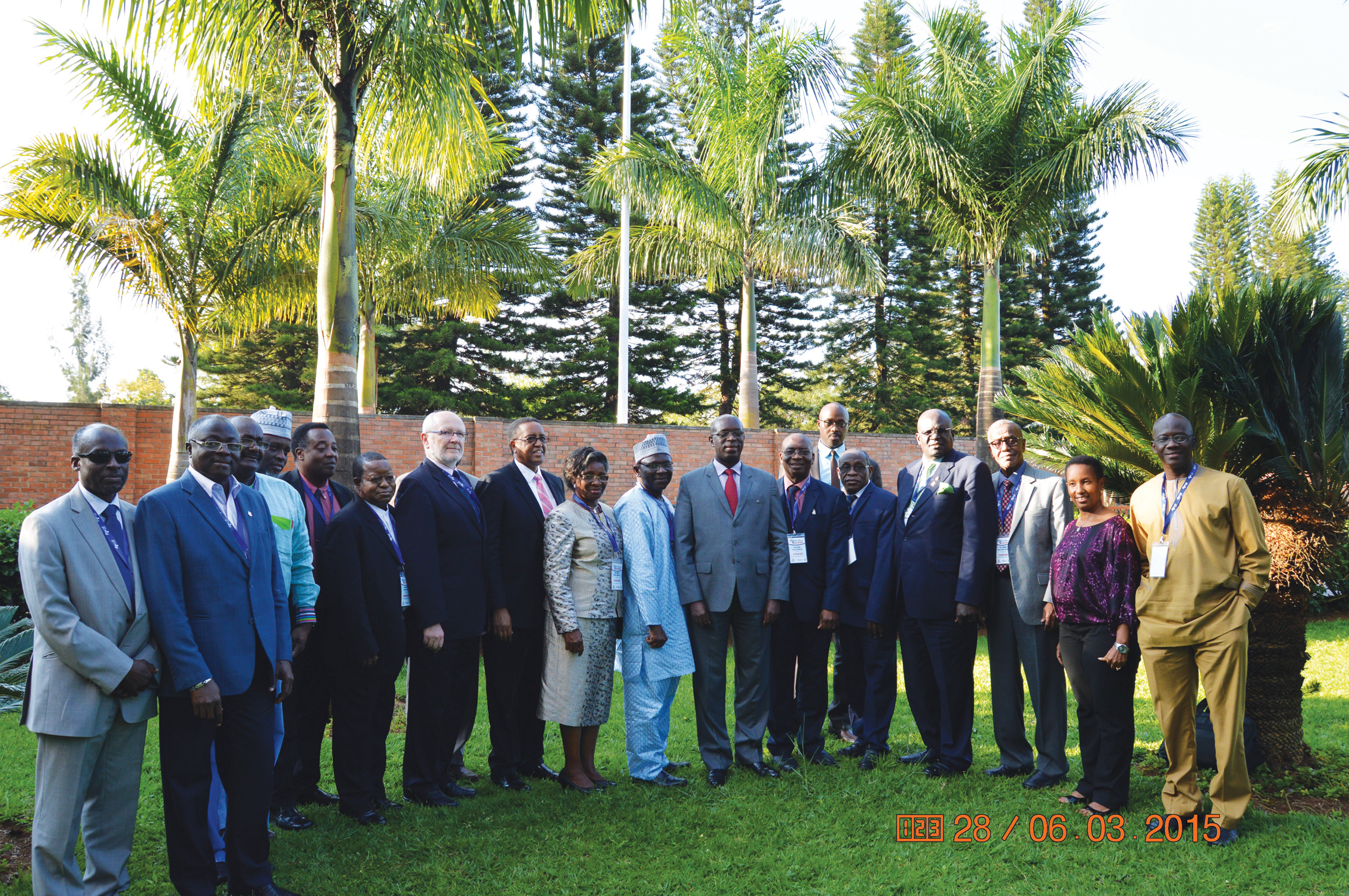 Prime Minister of Rwanda, Mr Anastase Murekezi (Centre), President of the Association of African Universities (AAU) and Vice Chancellor, Federal University of Agriculture, Abeokuta (FUNAAB), Prof Olusola Oyewole (8th from right) with other members of the AAU delegation during a courtesy call on the former in Kigali yesterday. PHOTO: INTELLECTUAL MAGAZINE