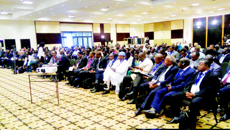 Delegates at the Conference of Rectors, Vice Chancellors and Presidents of African Universities held in Kigali, Rwanda between June 2 and 6.