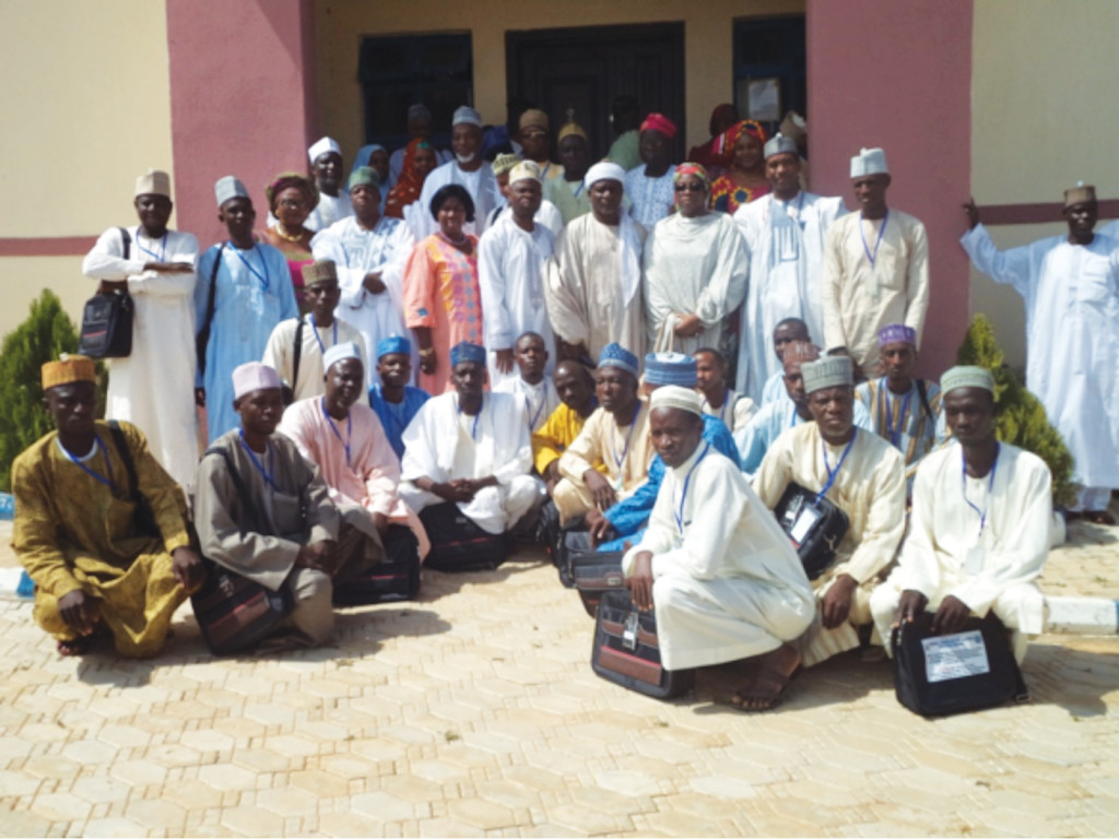 Cross section of teachers from seven states in the North West Zone, at the capacity building workshop, organized by the National Commission for Nomadic Education (NCNE) in Gasau, Zamfara recently.