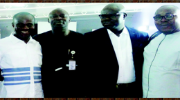 Chief Press Secretary to the Ebonyi State governor, Mr Emma Anya (left), Chief Press Secretary to the Lagos State governor, Mr Habib Haruna, Chief Press Secretary of the Osun State governor, Mr Semiu Okanlawon and Chief Press Secretary to the Ondo State governor, Mr Eni Akinola, at the workshop' PHOTO. INTELLECTUAL MAGAZINE