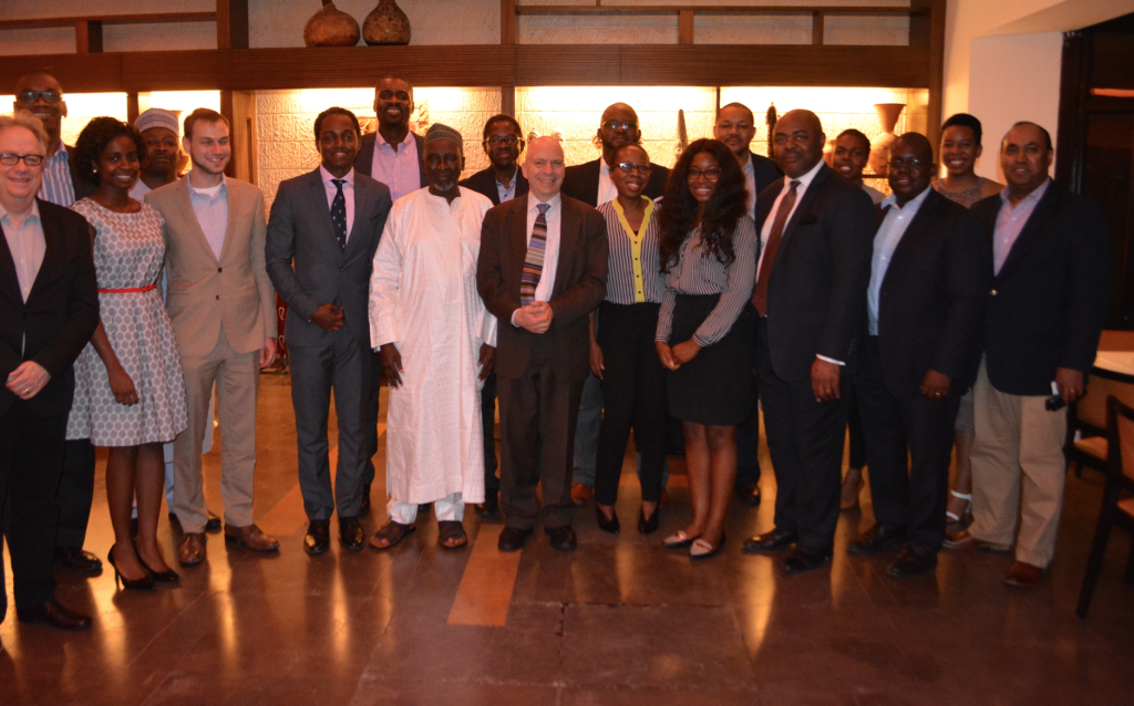 Cross section of Yale alumni and officials at the event.